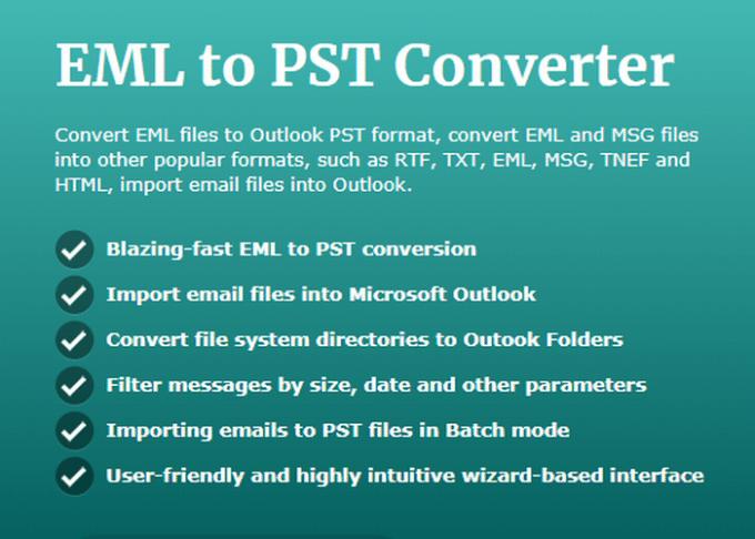 EML a PST convertidor
