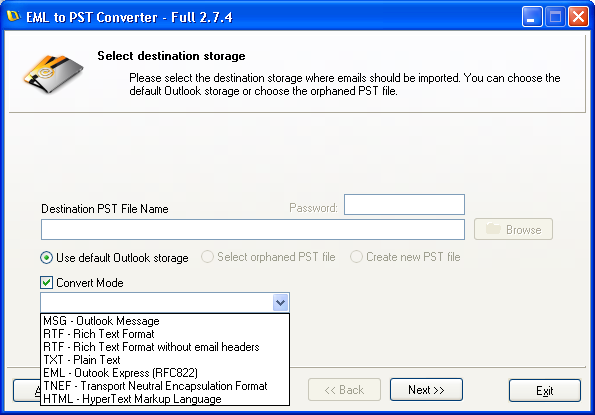 Msg To Tnef | EML to PST Converter