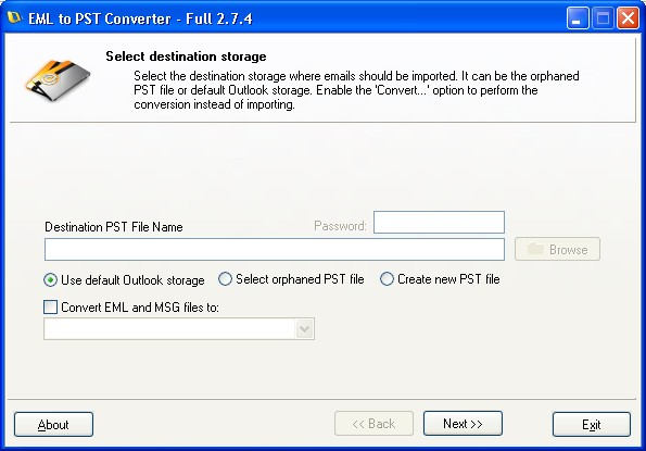 EML to PST Batch Converter Shareware