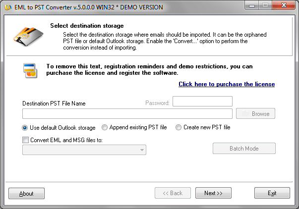 EML to PST Converter - email migration and conversion tool